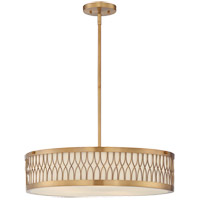 Spinnaker 5 Light 22 inch Warm Brass Pendant Ceiling Light in Frosted