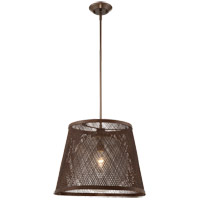 Messina 1 Light 20 inch Architectural Bronze Outdoor Pendant in Clear Seeded