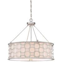Triona 4 Light 24 inch Silver Leaf Pendant Ceiling Light