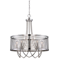 Savoy House Fairview 5 Light Pendant in Polished Nickel 7-1281-5-109