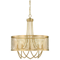 Savoy House Fairview 5 Light Pendant in Rubbed Brass 7-1281-5-325