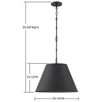 Savoy House 7-131-1-89 Alden 1 Light 18 inch Matte Black Pendant Ceiling Light alternative photo thumbnail