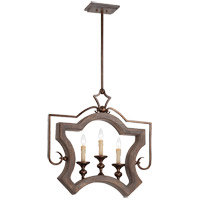 Savoy House Berwick 3 Light Pendant in Dark Wood and Guilded Bronze 7-1330-3-327