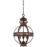 Strasbourg 3 Light 15 inch Fiesta Bronze Pendant Ceiling Light in Antique