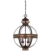 Strasbourg 4 Light 18 inch Fiesta Bronze French Globe Ceiling Light in Antique