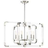 Rotterdam 6 Light 25 inch Polished Nickel Pendant Ceiling Light