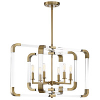 Rotterdam 6 Light 25 inch Warm Brass Pendant Ceiling Light