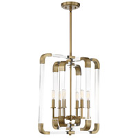 Rotterdam 6 Light 20 inch Warm Brass Pendant Ceiling Light