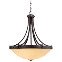 Savoy House 7-2016-4-05 Elba 4 Light 30 inch Oiled Copper Pendant Ceiling Light in Cream Textured photo thumbnail