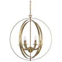 Savoy House 7-204-6-322 Dumont 6 Light 30 inch Warm Brass Pendant Ceiling Light