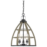 Luisa 3 Light 18 inch Weathered Birch Garden Chandelier