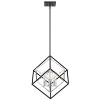 Savoy House 7-2241-3-67 Dexter 3 Light 21 inch Matte Black with Polished Chrome Accents Pendant Ceiling Light