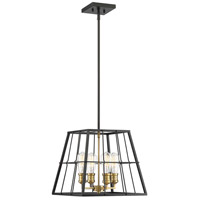 Savoy House 7-2252-4-51 Bayden 4 Light 15 inch Vintage Black with Warm Brass Pendant Ceiling Light