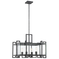 Savoy House 7-2281-4-150 Bennington 4 Light 24 inch Black Steel Pendant Ceiling Light