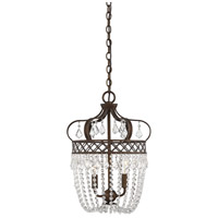 Rochelle 2 Light 12 inch New Tortoise Shell with Silver Pendant Ceiling Light