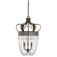 Rochelle 3 Light 17 inch New Tortoise Shell with Silver Pendant Ceiling Light