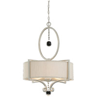 Rosendal 3 Light 22 inch Silver Sparkle Pendant Ceiling Light