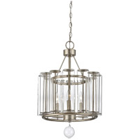 Savoy House Belmont 3 Light Pendant in Distressed Silver Leaf 7-262-3-29