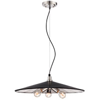 Savoy House Armature 3 Light Pendant in Polished Nickel with Bronze Accents 7-272-3-20