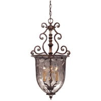 St. Laurence 3 Light 15 inch New Tortoise Shell with Silver Pendant Ceiling Light