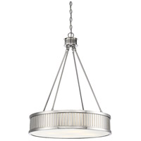 Savoy House 7-3103-4-109 William 4 Light 24 inch Polished Nickel Pendant Ceiling Light