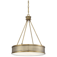Savoy House 7-3103-4-322 William 4 Light 24 inch Warm Brass Pendant Ceiling Light