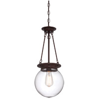 Landon 1 Light 9 inch Oiled Burnished Bronze Orb Pendant Ceiling Light