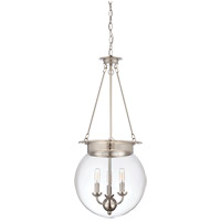 Landon 3 Light 14 inch Polished Nickel Pendant Ceiling Light, Orb