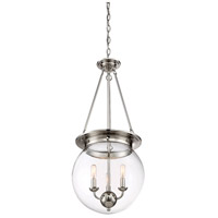 Savoy House 7-3301-3-109 Landon 3 Light 14 inch Polished Nickel Pendant Ceiling Light, Orb alternative photo thumbnail