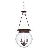 Landon 3 Light 14 inch Oiled Burnished Bronze Pendant Ceiling Light, Orb