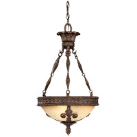 Savoy House Corsica 3 Light Pendant in New Tortoise Shell 7-3413-3-56
