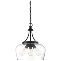 Savoy House 7-4034-3-BK Octave 3 Light 15 inch Black Pendant Ceiling Light
