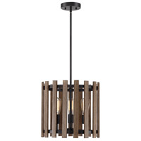 Santiago 3 Light 15 inch Sapele Pendant Ceiling Light