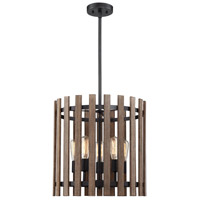 Santiago 5 Light 18 inch Sapele Pendant Ceiling Light
