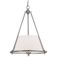 Foxcroft 3 Light 20 inch Brushed Pewter Pendant Ceiling Light