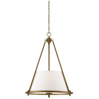 Savoy House Foxcroft 3 Light Pendant in Aged Brass 7-4151-3-291