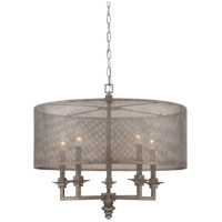 Structure 5 Light 24 inch Aged Steel Pendant Ceiling Light