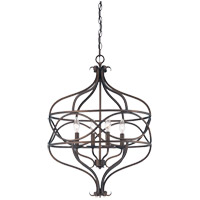Society 4 Light 20 inch English Bronze Pendant Ceiling Light