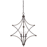 Savoy House Society Collection 3 Light Pendant in English Bronze 7-4352-3-13