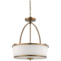 Savoy House Hagen 3 Light Pendant in Heirloom Brass 7-4386-3-178