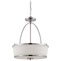 Savoy House Satin Nickel Glass Pendants