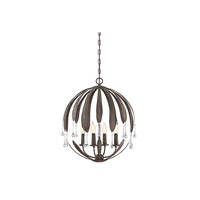 Savoy House 7-4441-4-64 Sussex 4 Light 21 inch Fieldstone Chandelier Ceiling Light