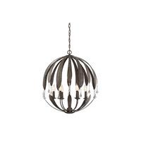 Savoy House 7-4442-6-64 Sussex 6 Light 25 inch Fieldstone Chandelier Ceiling Light