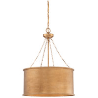 Rochester 4 Light 19 inch Gold Patina Pendant Ceiling Light