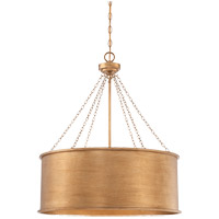 Rochester 6 Light 25 inch Gold Patina Pendant Ceiling Light