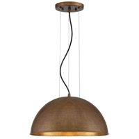 Sommerton 1 Light 16 inch Rubbed Bronze with Gold Leaf Pendant Ceiling Light in Rubbed Bronze/Gold Leaf