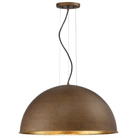 Sommerton 3 Light 24 inch Rubbed Bronze with Gold Leaf Pendant Ceiling Light