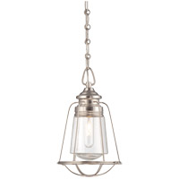 Vintage 1 Light 8 inch Satin Nickel Mini Pendant Ceiling Light