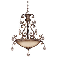 Savoy House 7-5311-5-8 Chastain 5 Light 26 inch New Tortoise Shell with Silver Pendant Ceiling Light