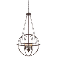 Elgin 4 Light 20 inch Galaxy Bronze Pendant Ceiling Light